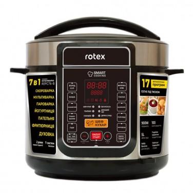 Мультиварка-скороварка керамика 17 программ Rotex REPC76-B-1 900 Вт Мультиповар пароварка хлебопечка паска творог книга рецептов