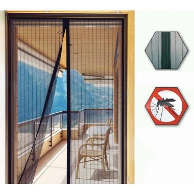 Дверная антимоскитная сетка штора Magnetic Mesh 210х100см  от насекомых комаров на магнитах Черная
