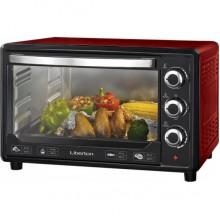 Электрическая печь Liberton LEO-380 хлебопечка гриль 38 л  1600W  3 режима нагрева таймер духовка Красная