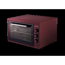 Электрическая печь гриль хлебопечка пицца Liberton LEO-420 выпечка 42л  1500W нагрев 320  электродуховка настольная Красный