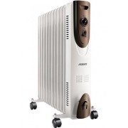 Масляный обогреватель радиатор 11 секций ARDESTO OFH-11X1 2500Вт 3 уровня терморегулятор батарея электрический 25м напольный мобильный защита от перегрева опрокидывания