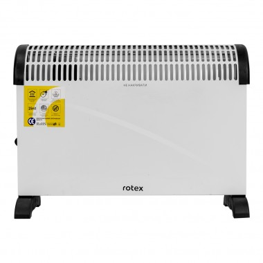 Конвектор электрический обогреватель 2 в 1 Rotex RCX200-H 2 кВт 20м2 3 режима терморегулятор настенный/напольный белый