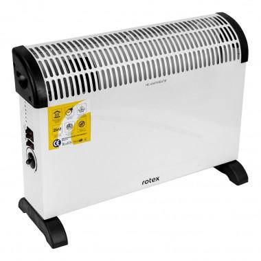 Конвектор электрический обогреватель 2 в 1 Rotex RCX201-H 2 кВт 20м2 TURBO вентилятор ускоренный обогрев 3 режима терморегулятор настенный/напольный белый