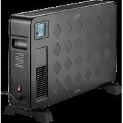 Конвектор электрический обогреватель с пультом ДУ таймером ECG TK 2040 DR black 2,3 кВт 22м2 Turbo вентилятор термостат LED дисплей напольный черный