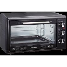 Электрическая печь Liberton LEO-350 гриль выпечка 35 л  1800W  3 режима нагрева таймер духовка настольная Черный