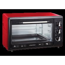 Электрическая печь Liberton LEO-350 выпечка гриль 35 л  1800W  3 режима нагрева таймер духовка Красная
