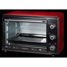 Электрическая печь Liberton LEO-400 выпечка гриль 40 л  2000W  3 режима нагрева электродуховка настольная Красная