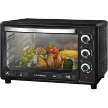 Электрическая печь Liberton LEO-380 хлебопечка гриль 38 л  1600W  3 режима нагрева таймер духовка настольная Черная