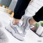 Женские кроссовки Shoes Olav 40 (25,5 см) 9480 белые с серым