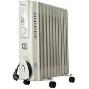Масляный радиатор обогреватель 11 секций ELEMENT OR 1125-9 2,5 кВт  3 режима 20-25 м2 защита от перегрева терморегулятор батарея напольный серый/белый