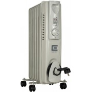 Масляный радиатор обогреватель 7 секций ELEMENT OR 0715-9 1,5 кВт  3 режима 10м2 защита от перегрева терморегулятор батарея напольный серый/белый