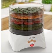 Сушилка для овощей и фруктов электрическая Zelmotor 610.0  мощность 420 Вт 5 лотков ягоды травы белая тихая